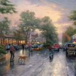 Carmel, Sunset on Ocean Avenue – Limited Edition Art