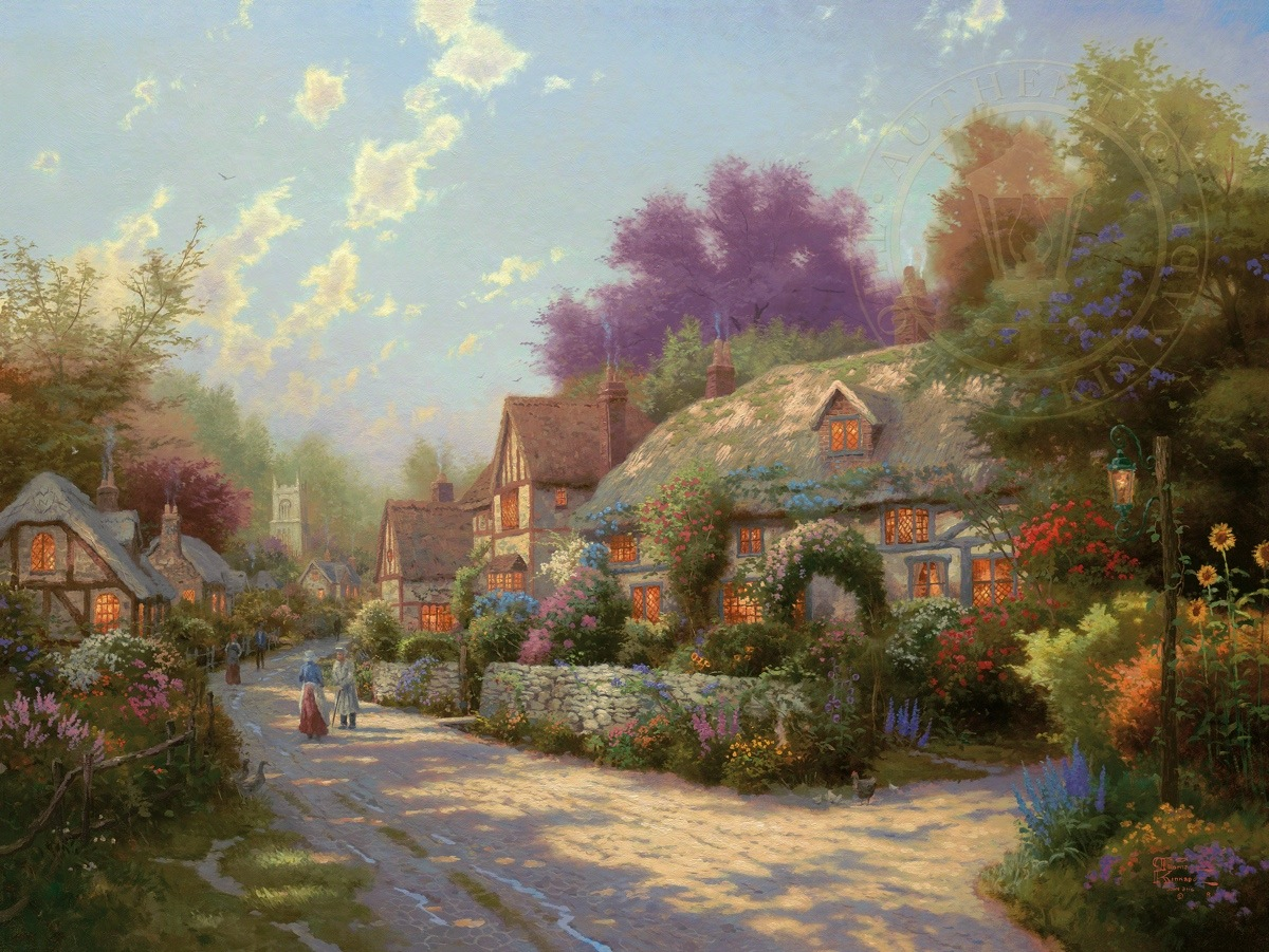Cobblestone Village Limited Edition Art
