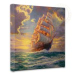 Courageous Voyage – 14″ x 14″ Gallery Wrapped Canvas