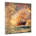 Courageous Voyage Map Collage- 14″ x 14″ Gallery Wrapped Canvas