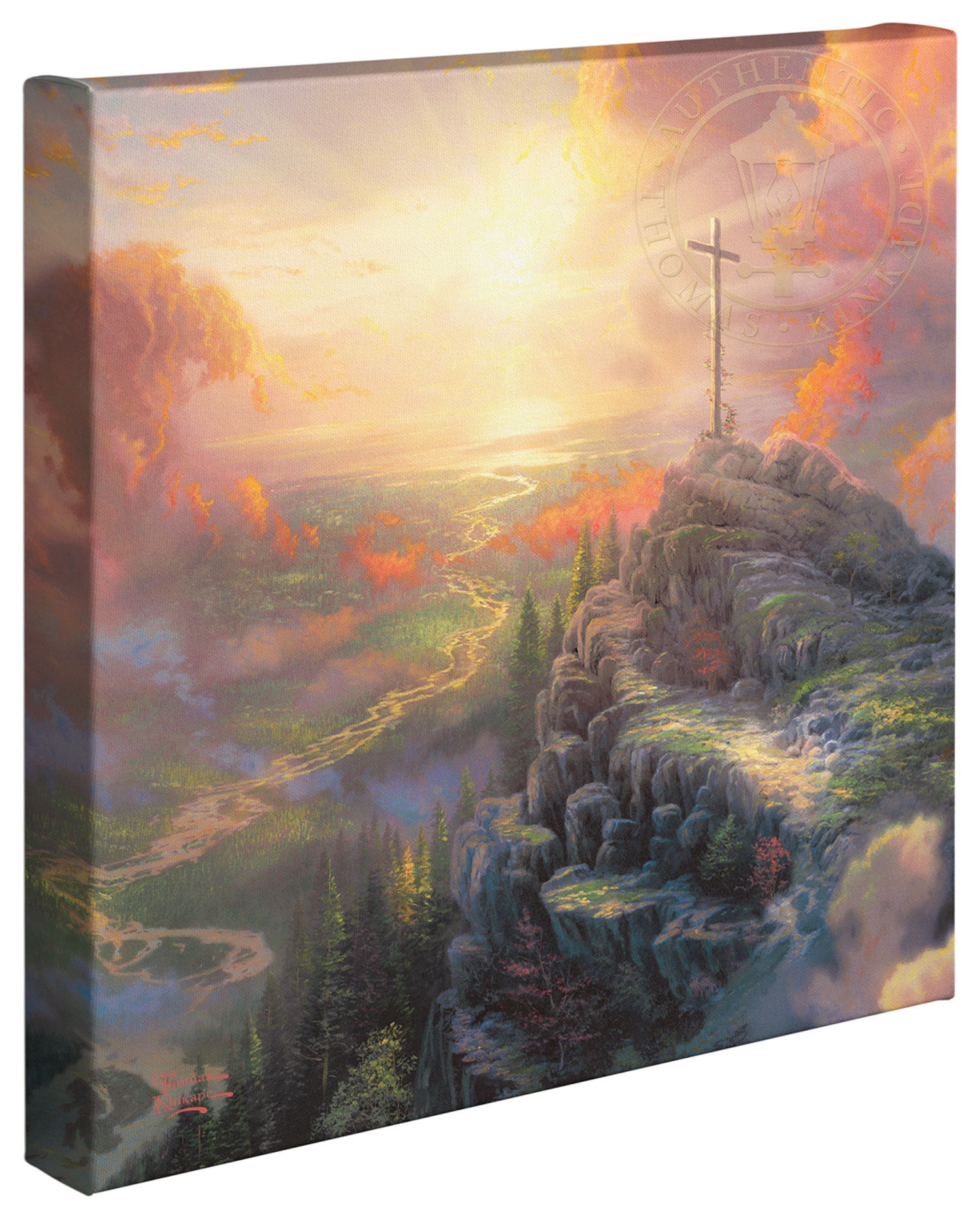 Wrapped Canvas: Cross, The €� 14″ X 14″ Gallery Wrapped Canvas