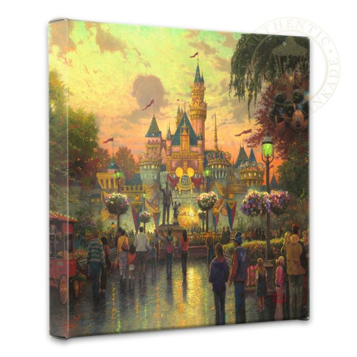 "Disneyland, 50th Anniversary – 14"" x 14"" Gallery Wrapped Canvas"