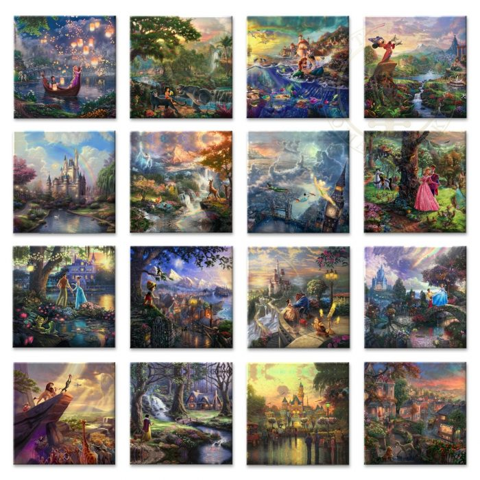 Disney Ultimate Collection (Set of 16 Wraps) – 14″ x 14″ Gallery Wrapped Canvas