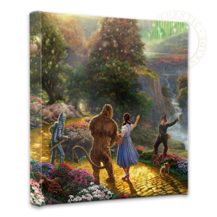 "Dorothy Discovers the Emerald City – 14"" x 14"" Gallery Wrapped Canvas"