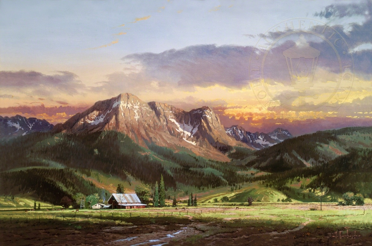 Dusk In The Valley Limited Edition Art Thomas Kinkade
