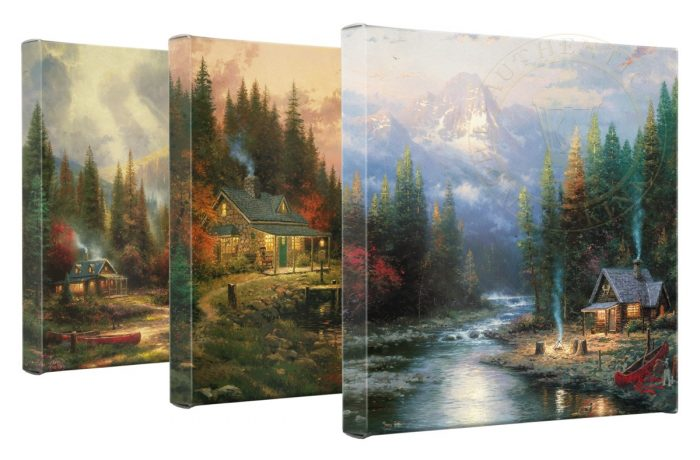 "End Of A Perfect Day – Set of 3 Wrapped Canvases – 14"" x 14"" Gallery Wrapped Canvas"