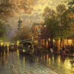 Evening on the Avenue – Limited Edition Canvas