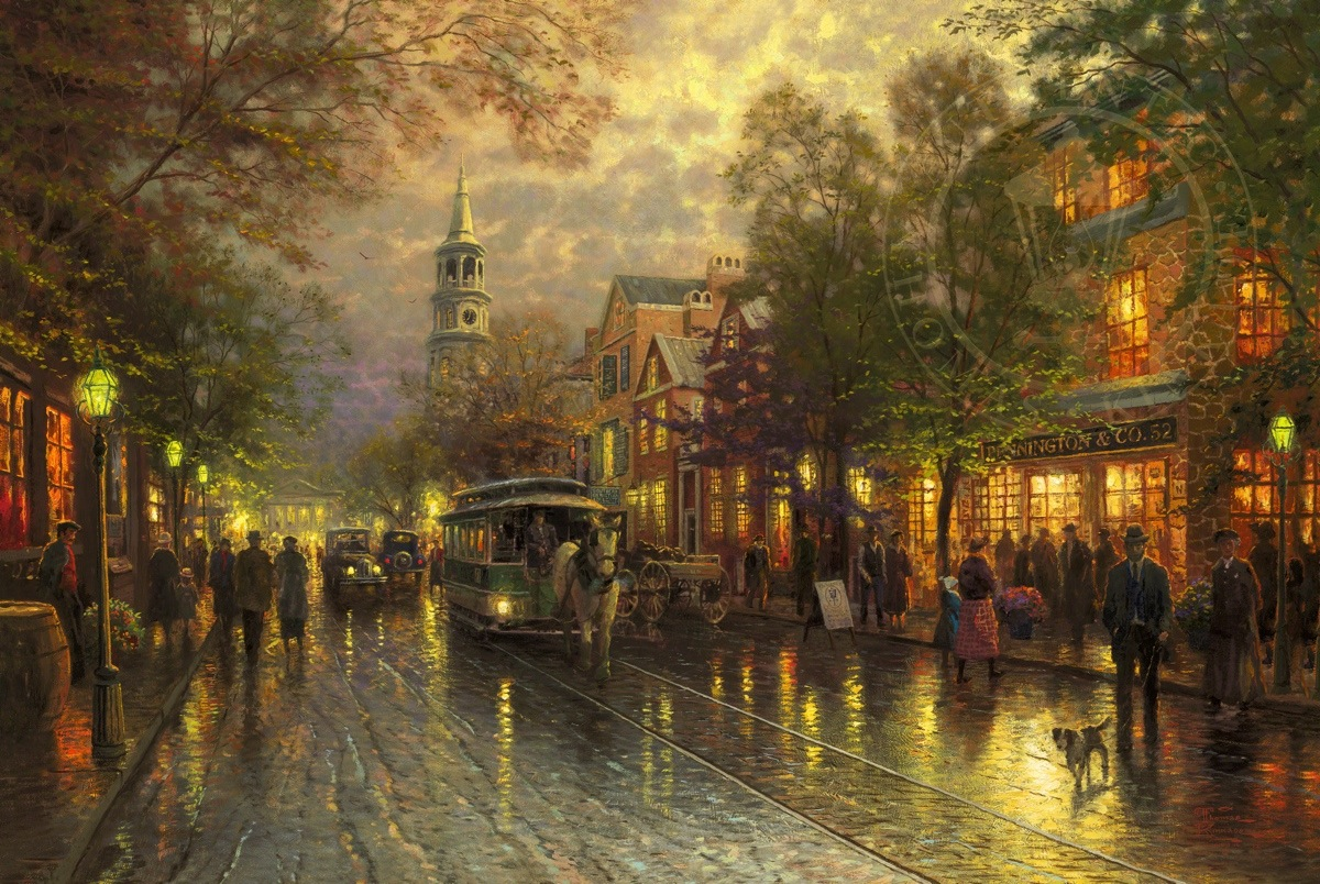 Evening On The Avenue Limited Edition Canvas Thomas