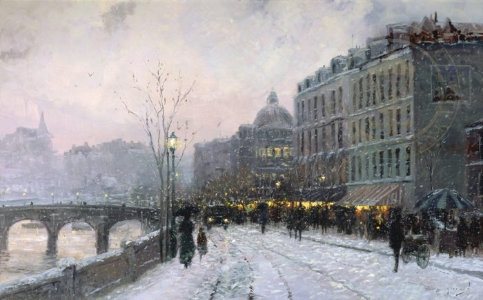Evening on the Seine – Limited Edition Canvas