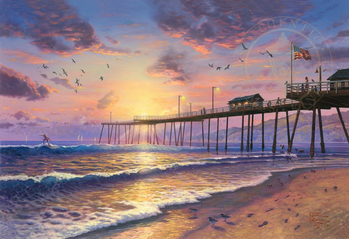 Footprints In The Sand Limited Edition Art The Thomas Kinkade