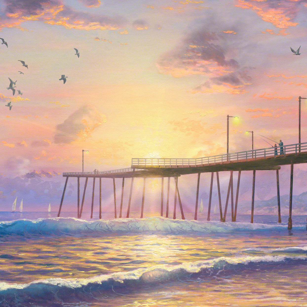 Footprints in the Sand – Limited Edition Art | The Thomas Kinkade ...