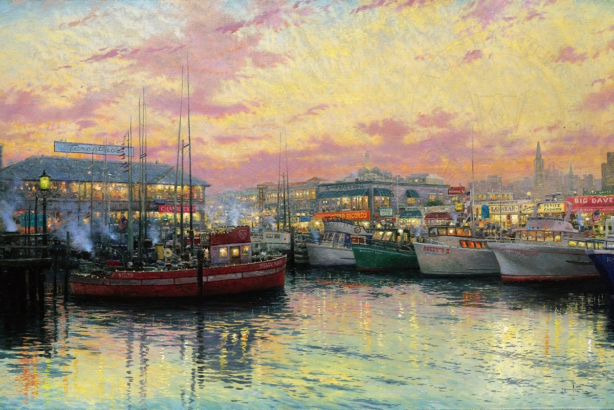 Fisherman s wharf san francisco limited edition art for Fishing store san francisco