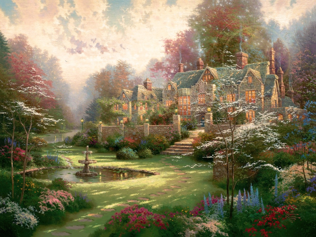 gardens beyond spring gate limited edition art the