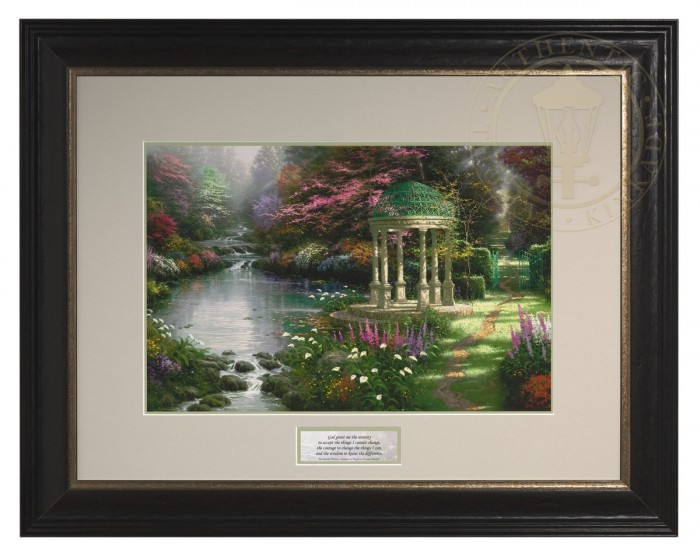 The Garden of Prayer – Inspirational Print (Dresden Black/Silver Frame)