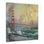 "San Francisco, Golden Gate Bridge – 14"" x 14"" Gallery Wrapped Canvas"