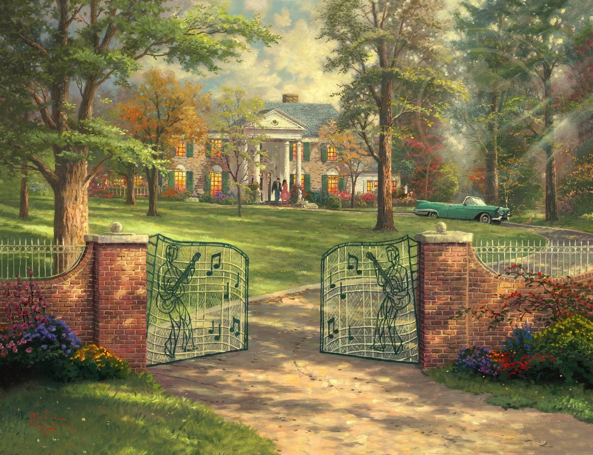 Graceland 50th anniversary limited edition art the for Home painting images