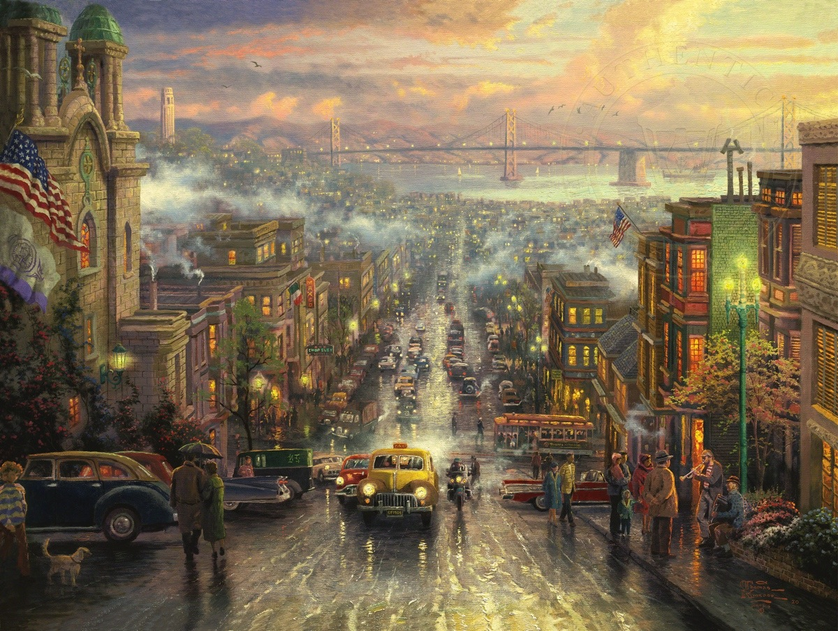 heart of san francisco the limited edition art the thomas