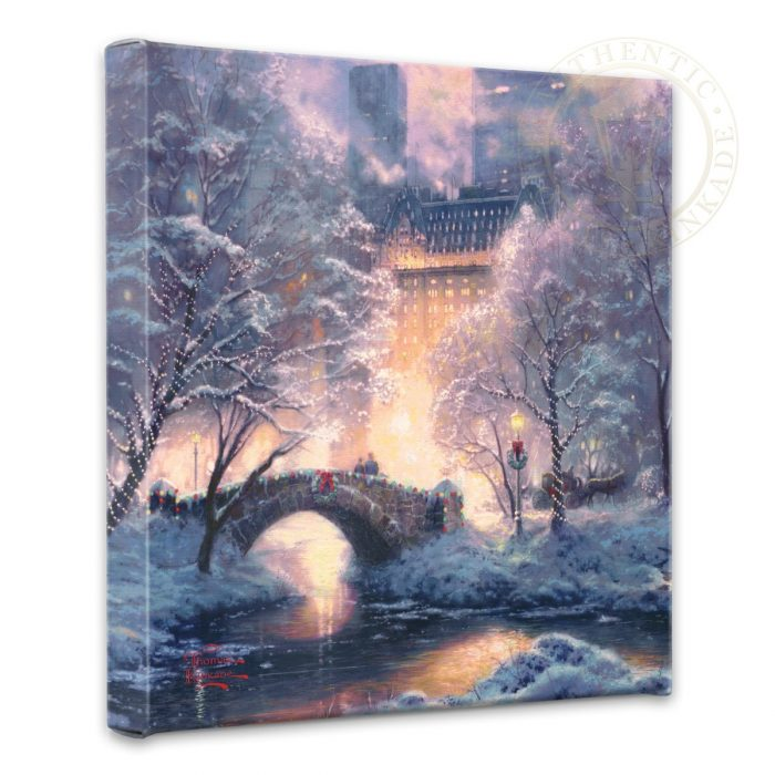 "Holiday at Central Park – 14"" x 14"" Gallery Wrapped Canvas"