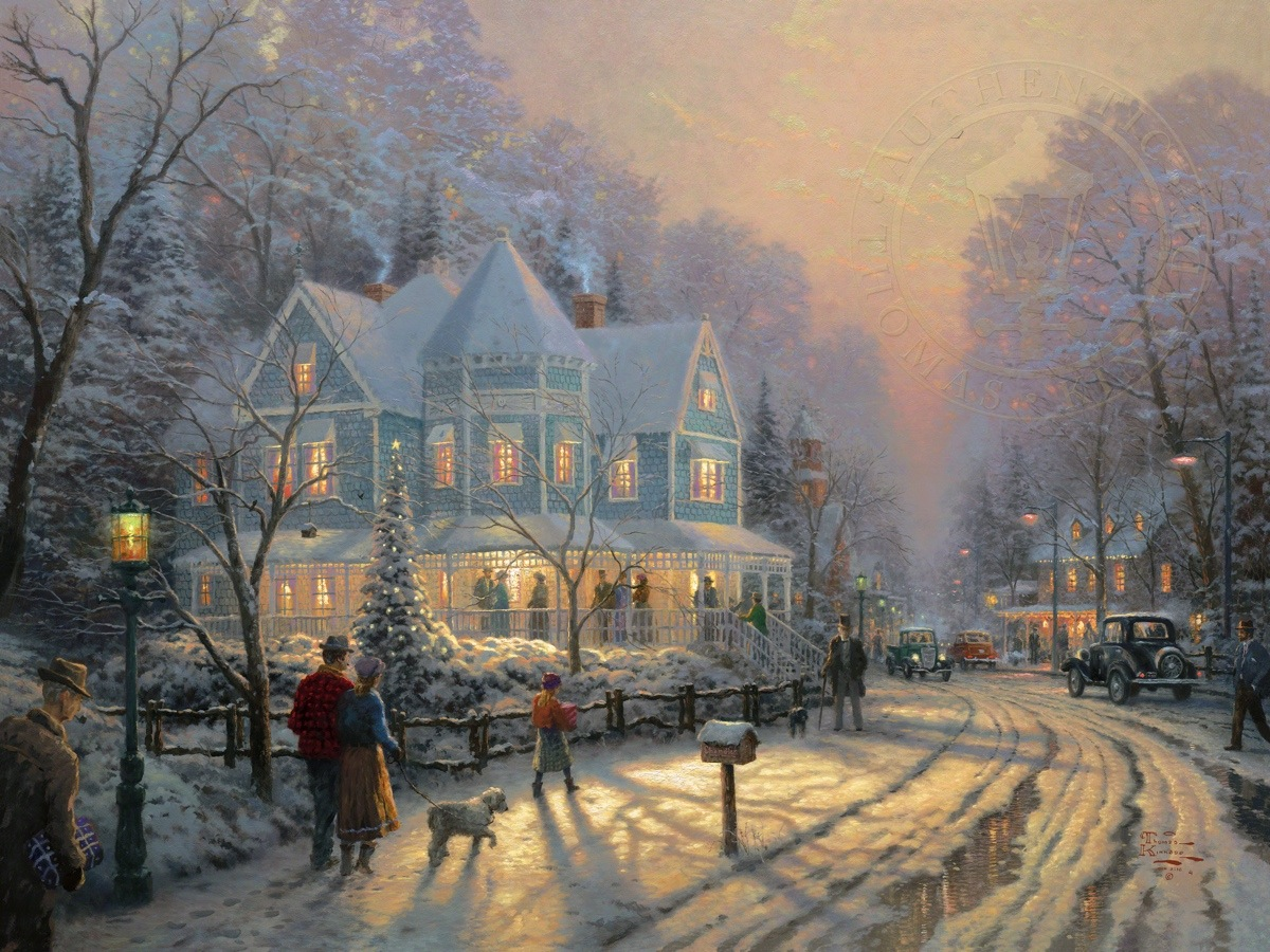 Holiday Gathering, A – Limited Edition Art | The Thomas Kinkade Company