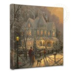 "Holiday Gathering, A – 14"" x 14"" Gallery Wrapped Canvas"