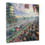 "Indy Excitement, 100 Years of Racing at Indianapolis Motor Speedway – 14"" x 14"" Gallery Wrapped Canvas"