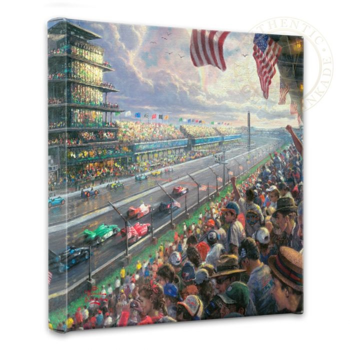 Indy Excitement, 100 Years of Racing at Indianapolis Motor Speedway – 14″ x 14″ Gallery Wrapped Canvas