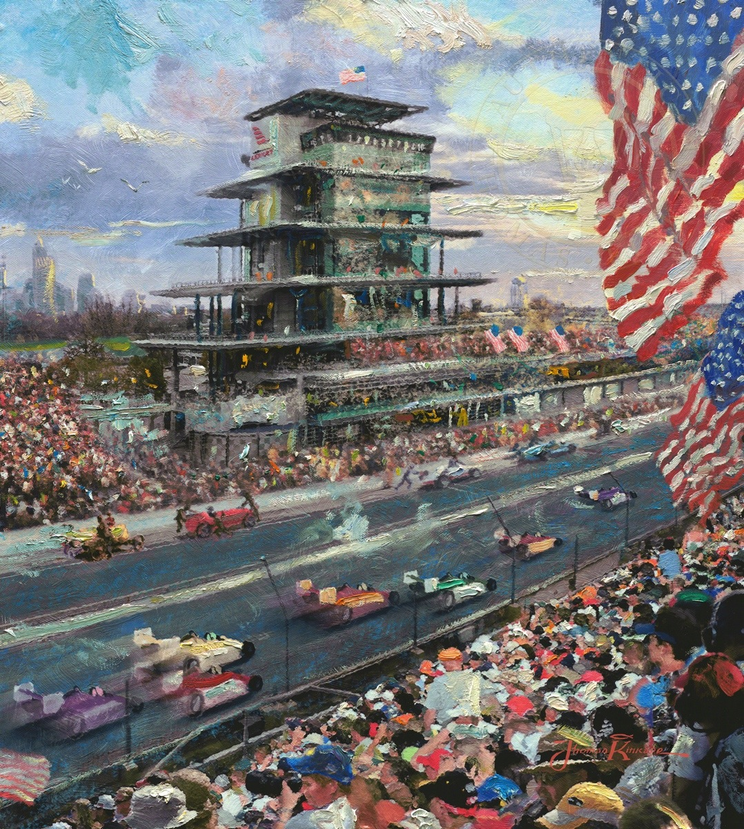 Indianapolis motor speedway study limited edition art for The indianapolis motor speedway