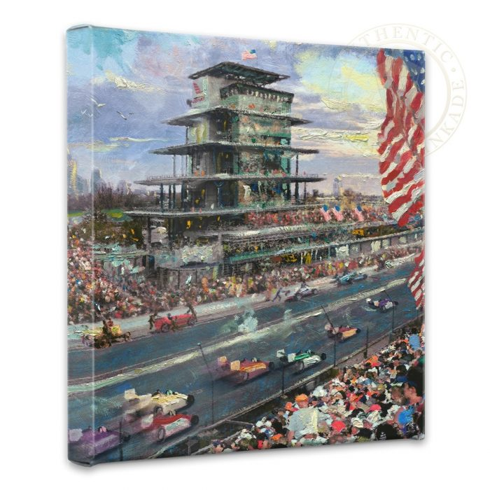 "Indianapolis Motor Speedway, 100th Anniversary Study – 14"" x 14"" Gallery Wrapped Canvas"