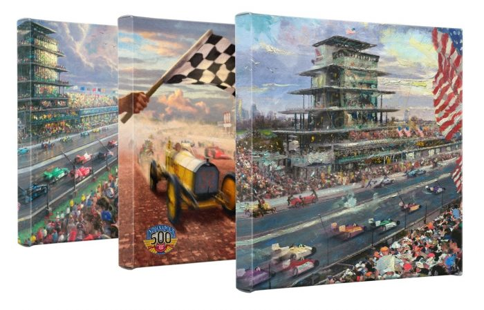 Indy 500 (Set of 3) – 14 x 14 Gallery Wrapped Canvas – Gallery Wrapped Canvas