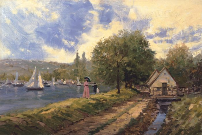 Lakeside Stroll – Limited Edition Art