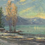 Lake Tahoe Shoreline, Winter – Limited Edition Canvas