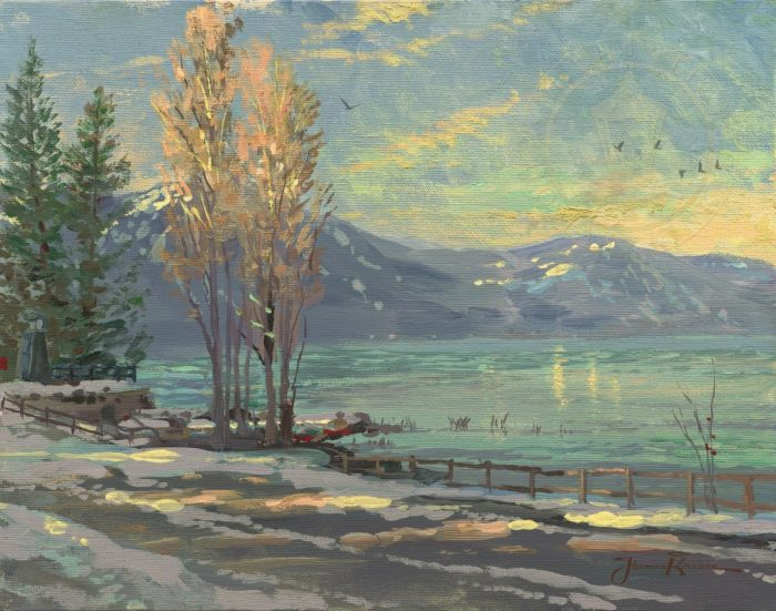 Lake Tahoe Shoreline, Winter – Limited Edition Art