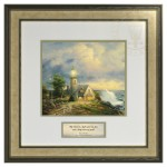 A Light in the Storm – Inspirational Print (Canaletto Ivory Frame)