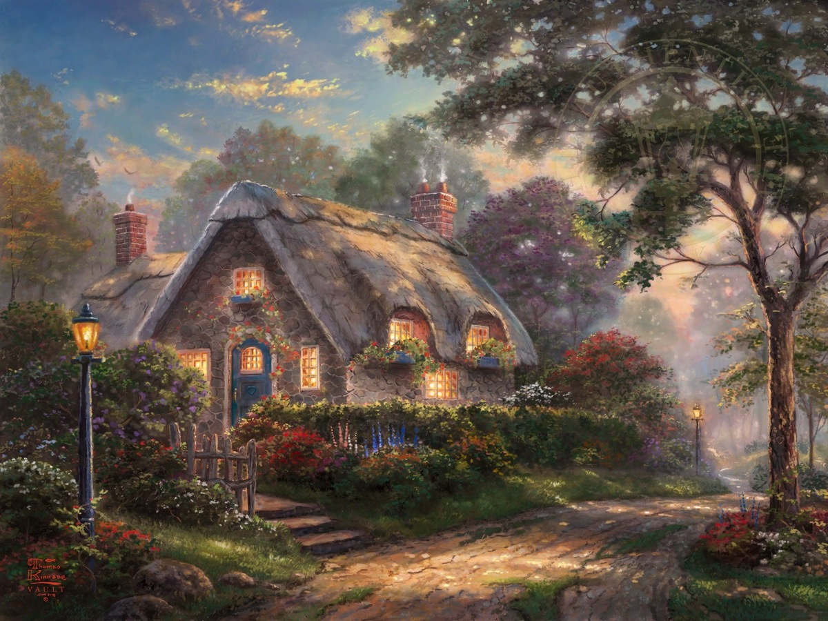 "Be the first to review ""Lovelight Cottage – Limited Edition Art ... Quaint English Cottages"