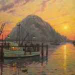 Morro Bay at Sunset – Limited Edition Canvas