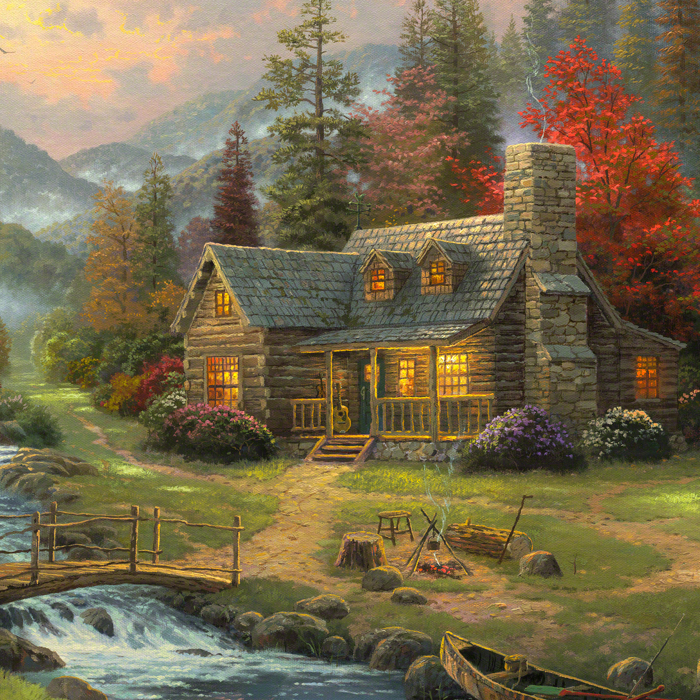 Mountain Paradise Limited Edition Art The Thomas Kinkade Company