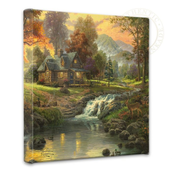 Mountain Retreat – 14″ x 14″ Gallery Wrapped Canvas