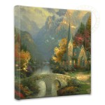 Mountain Chapel, The – 14″ x 14″ Gallery Wrapped Canvas