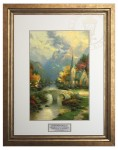Mountain Chapel , The  – Inspirational Print (Lucerne Topaz Frame)