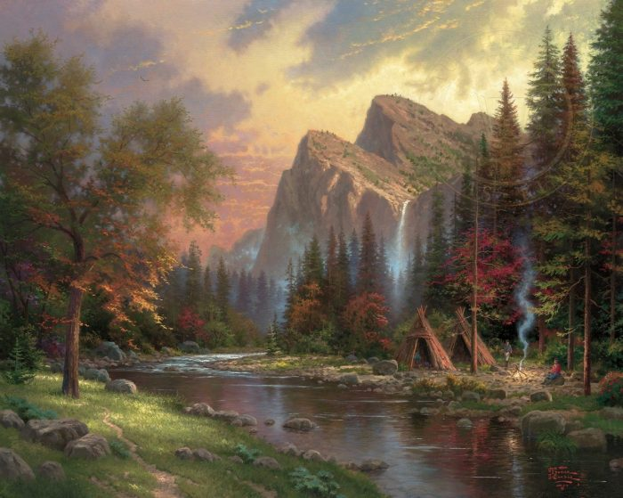 Mountains Declare His Glory, The – Limited Edition Canvas