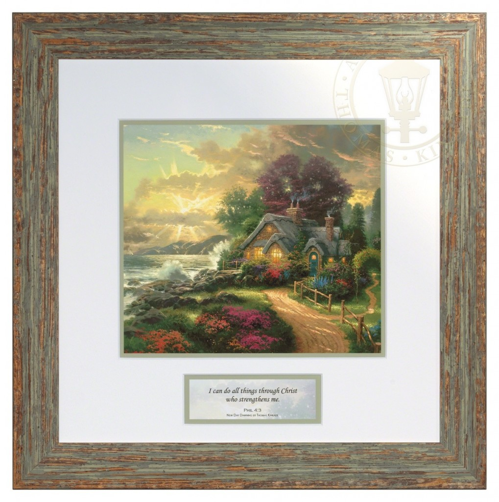 A New Day Dawning – Inspirational Print (Brittany Frame Frame)