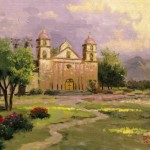 Old Mission, Santa Barbara, The – Limited Edition Canvas