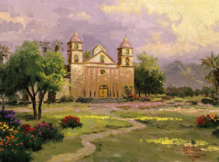 Old Mission, Santa Barbara, The – Limited Edition Art