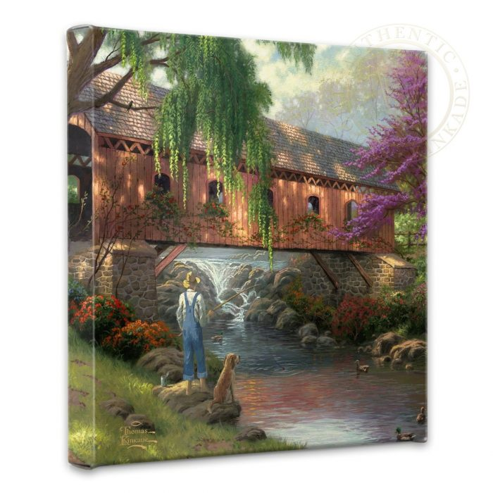 Old Fishing Hole  – 14″ x 14″ Gallery Wrapped Canvas