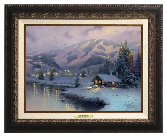Olympic Mountain Evening – Canvas Classic