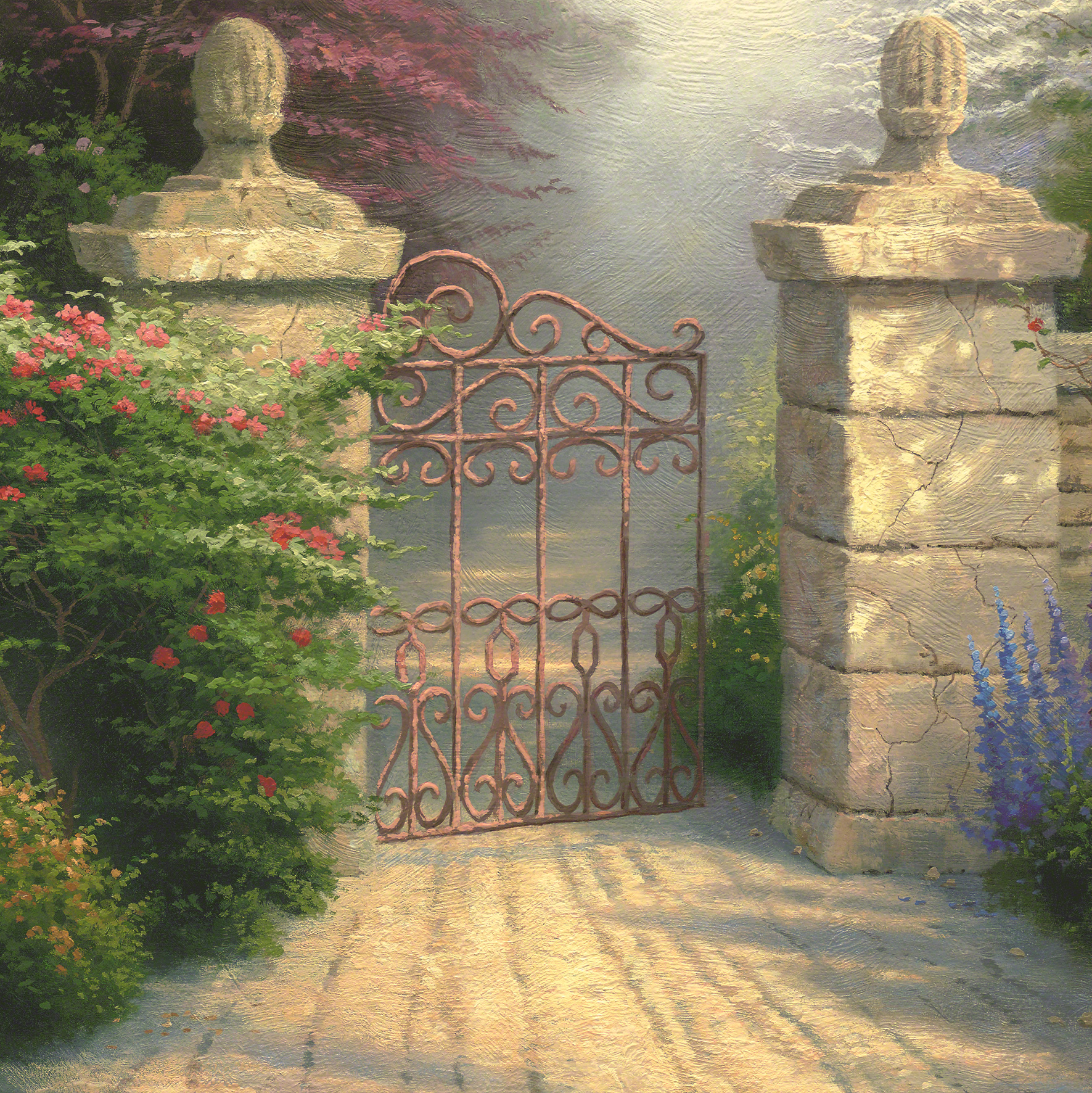 open gate the limited edition art the thomas kinkade company