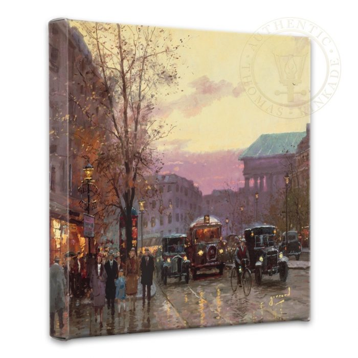 Paris Twilight – 14″ x 14″ Gallery Wrapped Canvas