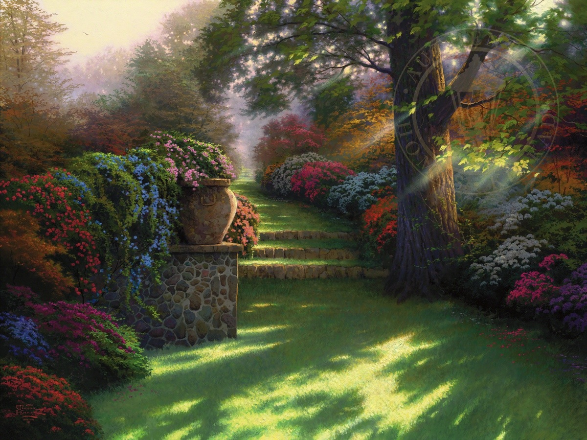 pathway to paradise limited edition art the thomas kinkade company