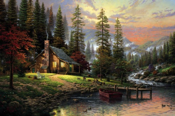 Peaceful Retreat, A – Limited Edition Canvas