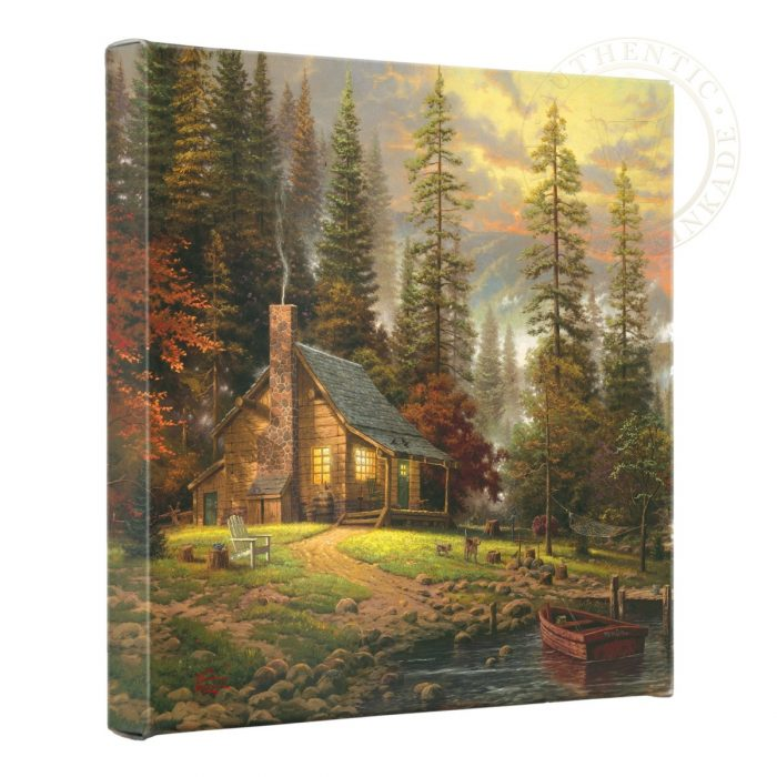 Peaceful Retreat, A – 14″ x 14″ Gallery Wrapped Canvas